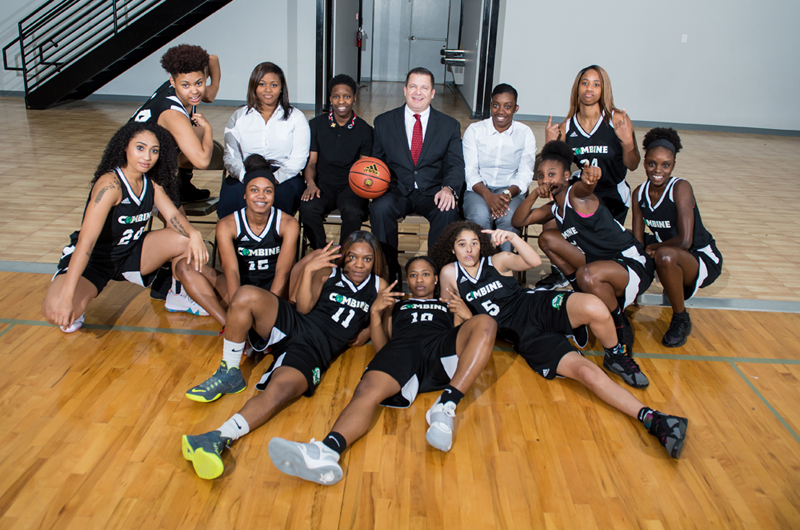 Combine Academy Women's Basketball Team