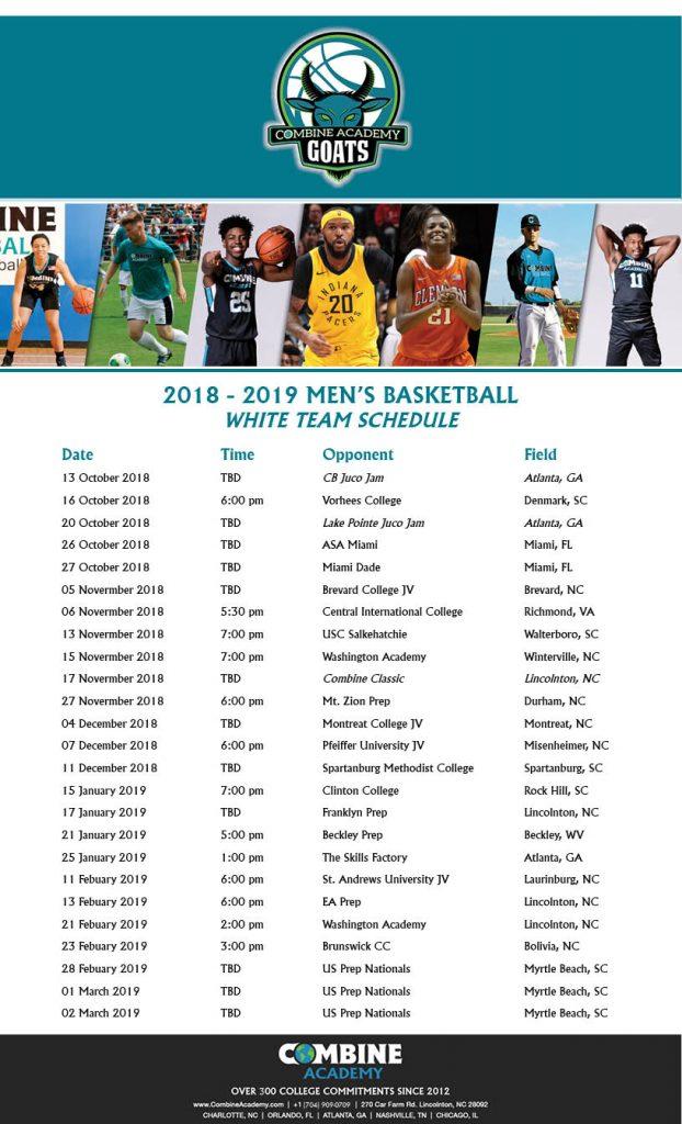 Combine Academy Men's Basketball White Team