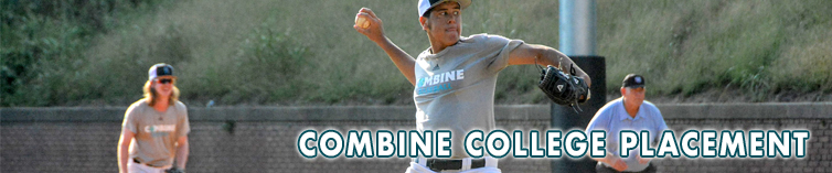 Combine Academy College Placement Baseball Header