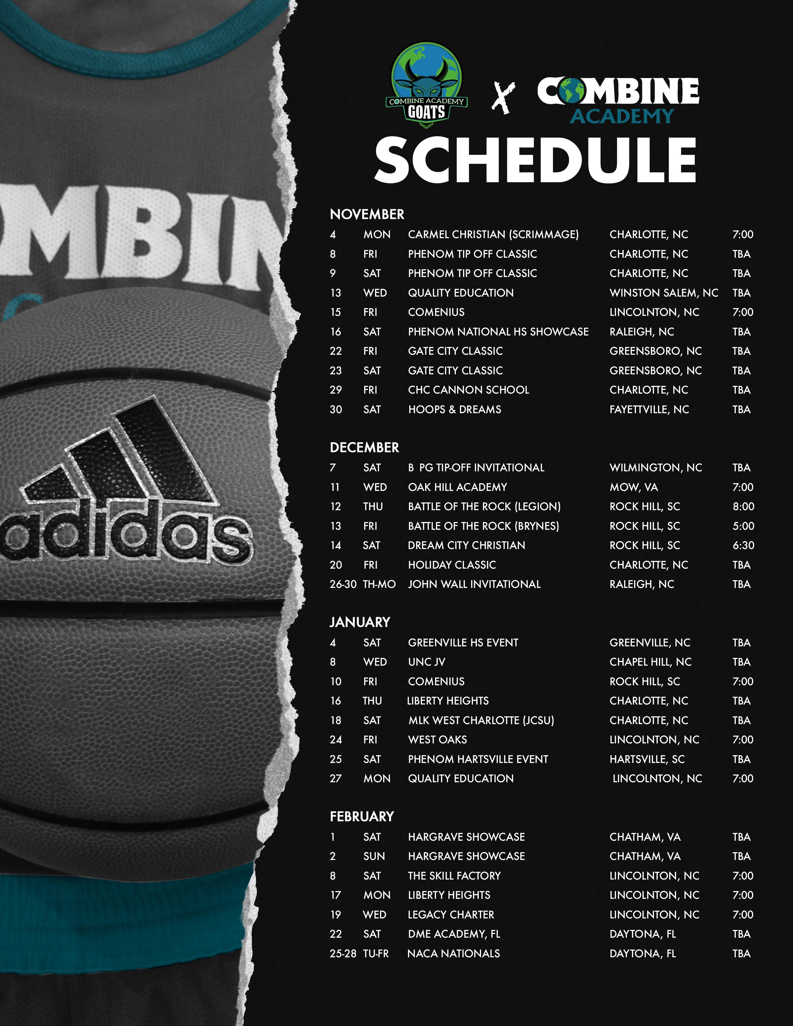 2020 Basketball National Schedule