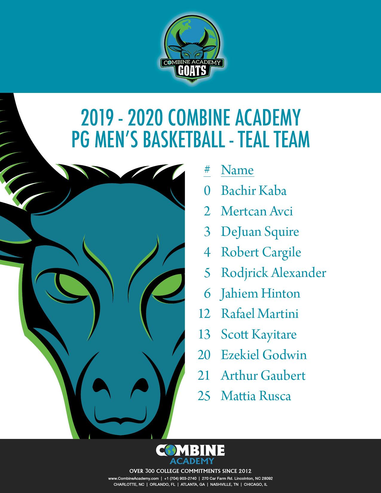 2019-2020 PG Teal Team Roster