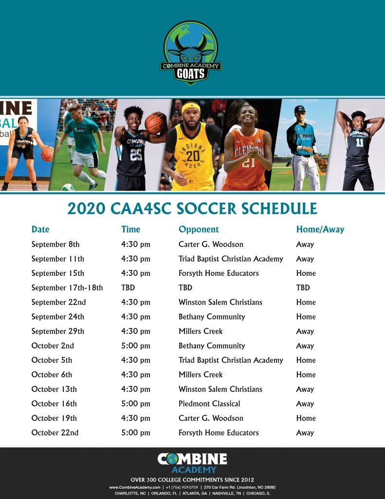 Soccer Schedule CAA4SC