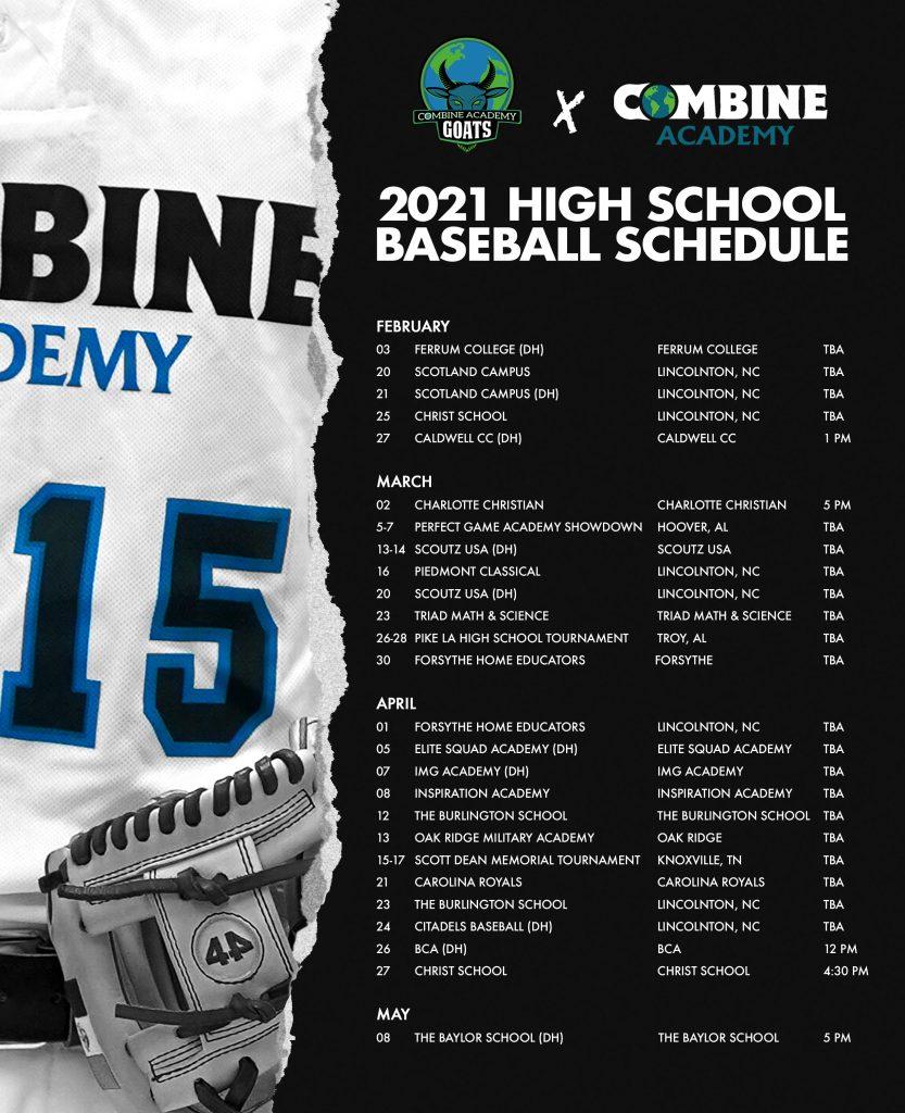 20-21 HS Baseball Schedule