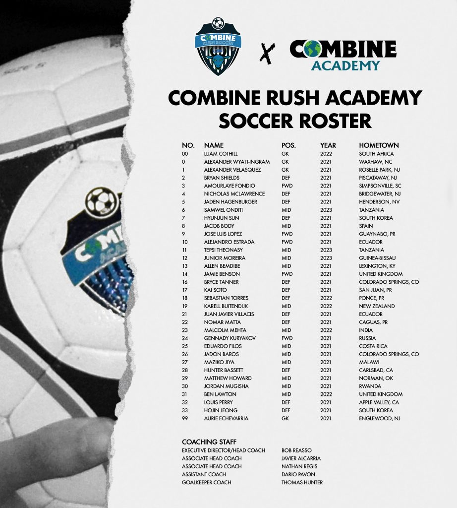 2021 Combine Rush Academy Soccer Roster Poster